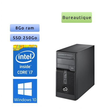 Fujitsu ESPRIMO P400 - Windows 10 - i7 8GB 250GB SSD - Ordinateur Tour Bureautique PC