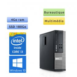 Dell Optiplex 390 SFF - Windows 10 - i3 4Go 180Go SSD - Ordinateur Tour Bureautique PC