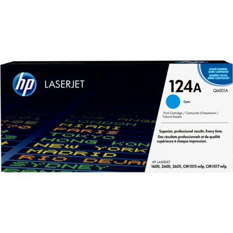 HP LaserJet - Q6001A - Cartouche toner - yan