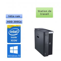 Dell Precision T3600 - Windows 10 - E5-1603 16Go 300Go - Ordinateur Tour Workstation PC