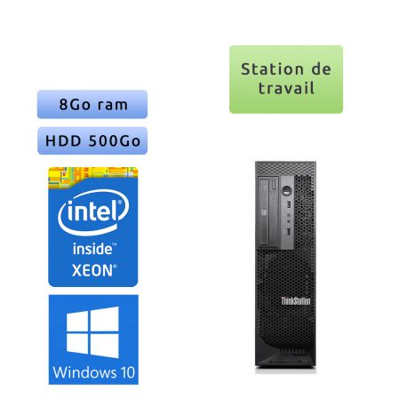 Lenovo ThinkStation C30 - Windows 10 - E5-2640 8GB 500GB - Ordinateur Tour Workstation PC