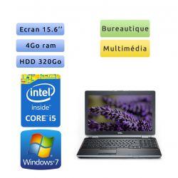 Dell Latitude E6520 - Windows 7 - i5 4GB 320GB - 15.6 - Webcam - Ordinateur Portable PC