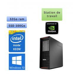 Lenovo ThinkStation P500 - Windows 10 - E5-1620v3 32Go 500Go SSD - Ordinateur Tour Workstation PC