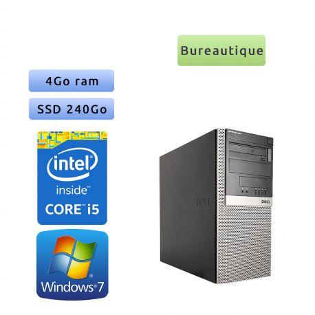 Dell Optiplex 980 MT - Windows 7 - i5 4GB 240GB SSD - Ordinateur Tour Bureautique PC