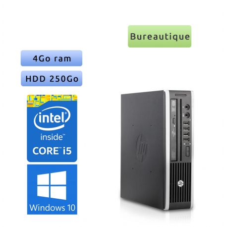 Hp 8200 Elite USDT - Windows 10 - i5 4GB 250GB - PC Tour Bureautique Ordinateur