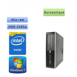Lot de 5 x Tour HP Faible encombrement - Windows 7 - Double Coeur 4GB 250GB - PC Tour Bureautique Ordinateur