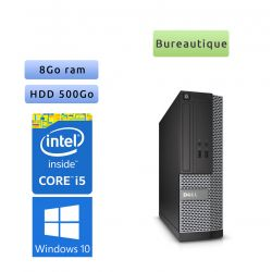 Lot de 50 x Dell Optiplex Core I5 - Windows 10 - Core I5 8GB 500GB - Ordinateur Tour Bureautique PC