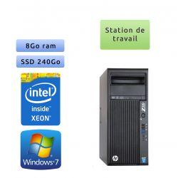 HP Workstation Z230 - Windows 7 - E3-1225v3 8GB 240GB SSD - Ordinateur Tour Workstation PC