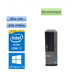 Dell Optiplex 7010 SFF - Windows 10 - i7 8Go 240Go SSD - Ordinateur Tour Bureautique