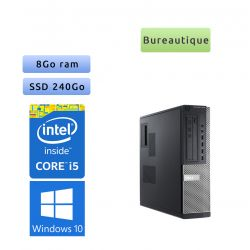 Dell Optiplex 7010 SFF - Windows 10 - i5 8Go 240Go SSD - Ordinateur Tour Bureautique PC