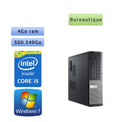 Dell Optiplex 7010 SFF - Windows 7 - i5 4Go 240Go SSD - Ordinateur Tour Bureautique PC