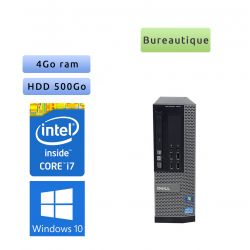 Dell Optiplex 7010 SFF - Windows 10 - i7 4Go 500Go - Ordinateur Tour Bureautique