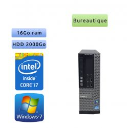 Dell Optiplex 7010 SFF - Windows 7 - i7 16Go 2To - Ordinateur Tour Bureautique