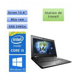 Lenovo L530 - Windows 10 - i5 8Go 240Go SSD - Station de travail - 15.6 - webcam - fiable & robuste