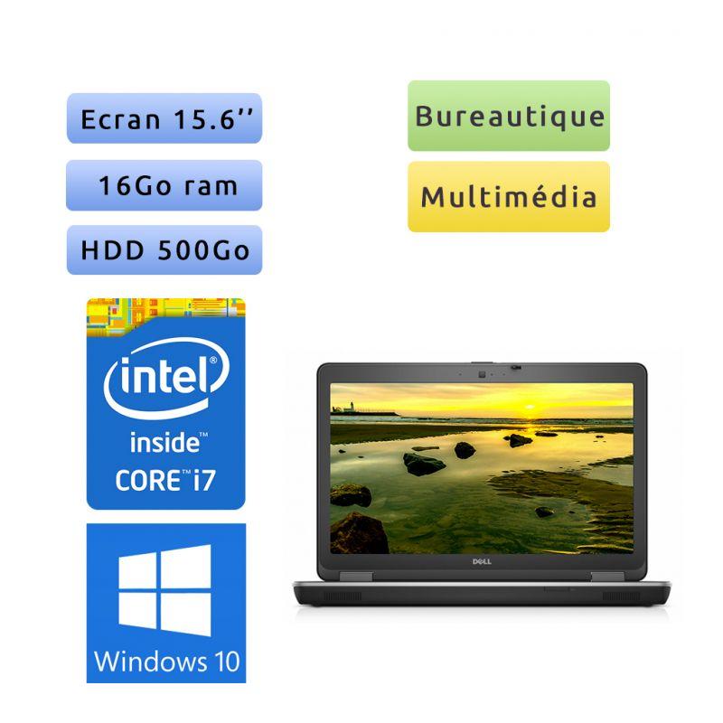 Dell Latitude E6540 - Windows 10 - i7 16Go 500Go - 15.6 - Ordinateur Portable