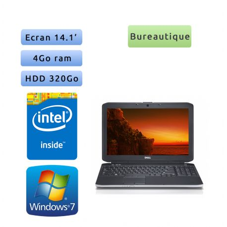 Dell Latitude E5430 - Windows 7 - B840 4Go 320Go - 14.1 - Webcam - Ordinateur Portable PC