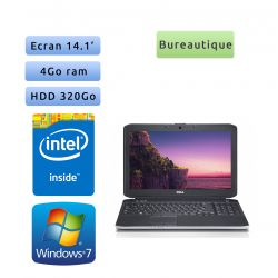 Dell Latitude E5430 - Windows 7 - B840 4Go 320Go - 14.1 - Webcam - Ordinateur Portable PC