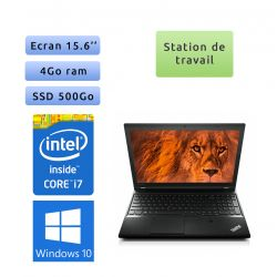 Lenovo ThinkPad L540 - Windows 10 - i7 4Go 500Go SSD - 15.6 - Workstation Ordinateur Portable PC