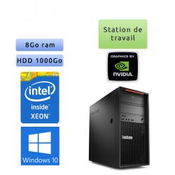 Lenovo ThinkStation P300 - Windows 10 - E3-1220v3 8GB 1000GB - K2200 - Ordinateur Tour Workstation PC