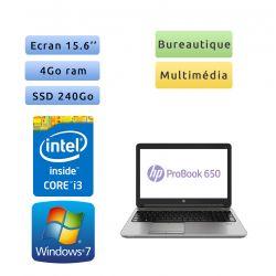HP ProBook 650 G2 - Windows 7 - i3 4Go 240Go SSD - 15.6 - Webcam - Ordinateur Portable PC - bureautique