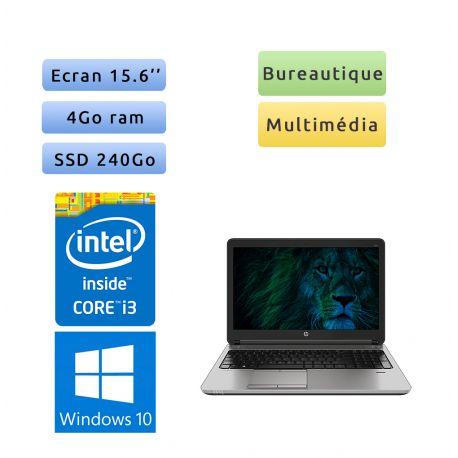 HP ProBook 650 G2 - Windows 10 - i3 4Go 240Go SSD - 15.6 - Webcam - Ordinateur Portable PC - bureautique