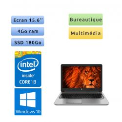 HP ProBook 650 G2 - Windows 10 - i3 4Go 180Go SSD - 15.6 - Webcam - Ordinateur Portable PC - bureautique