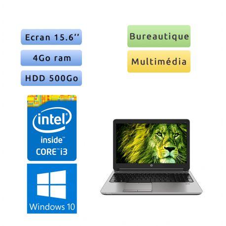 HP ProBook 650 G2 - Windows 10 - i3 4Go 500Go - 15.6 - Webcam - Ordinateur Portable PC - bureautique