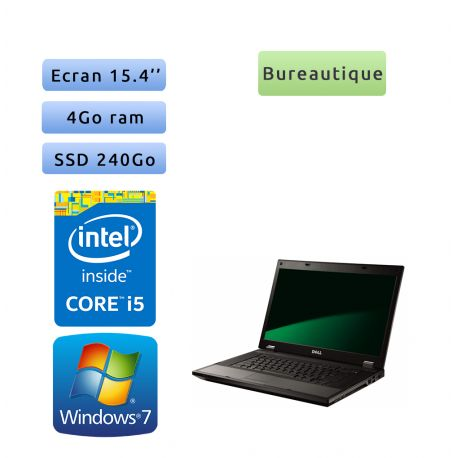 Dell Latitude E5510 - Windows 7 - i5 4Go 240Go SSD - 15.4 - Ordinateur Portable PC