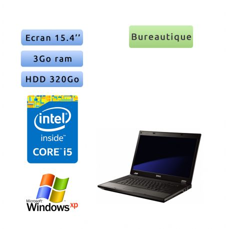 Dell Latitude E5510 - Windows XP - i5 3Go 320Go - 15.4 - Ordinateur Portable PC