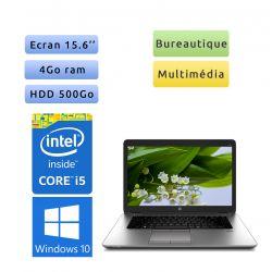 HP EliteBook 850 G1 - Windows 10 - i5 4Go 500Go - 15.6 - Webcam - Pc Portable Reconditionne