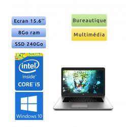 HP EliteBook 850 G1 - Windows 10 - i5 8Go 240Go SSD - 15.6 - Webcam - Pc Portable Reconditionne