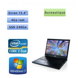 PC portable Dell - Windows 7 - 2.53 4Go 240Go SSD - 15'' - Webcam - Ordinateur