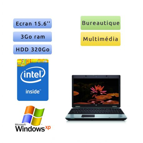 HP ProBook 6550b - Windows XP - P4600 3Go 320Go - 15.6 - Ordinateur Portable PC