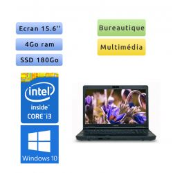 Toshiba Tecra A11 - Windows 10 - i3 4Go 180Go SSD - Webcam - 15.6 - Ordinateur Portable