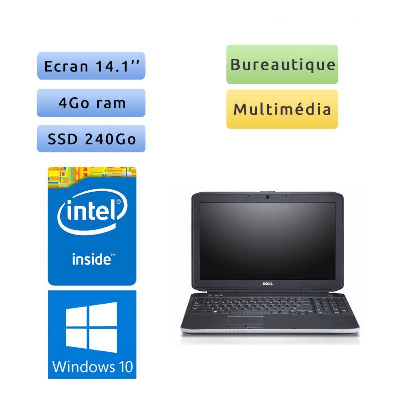PC Portable Dell Latitude - Windows 10 - 8Go 240Go SSD - 14.1 - Webcam - HDMI