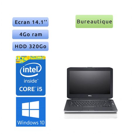 Lot de 10 x Dell Latitude E5430 - Windows 10 - i5 4Go 320Go - 14.1 - Webcam - Ordinateur Portable