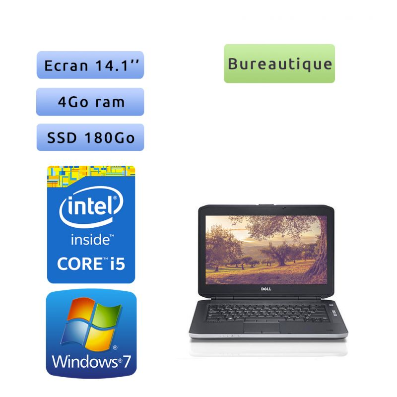 Dell Latitude E5430 - Windows 7 - i5 4Go 180Go SSD - 14.1 - Webcam - Ordinateur Portable PC