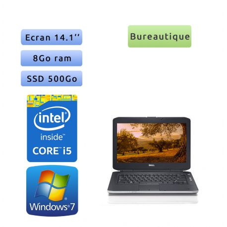 Dell Latitude E5430 - Windows 7 - i5 8Go 500Go SSD - 14.1 - Webcam - Ordinateur Portable PC