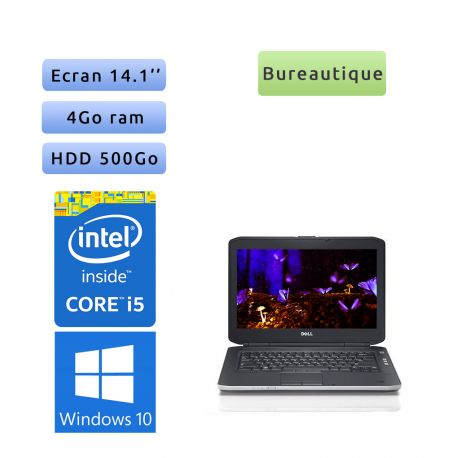 Dell Latitude E5430 - Windows 10 - i5 4Go 500Go - 14.1 - Webcam - Ordinateur Portable PC