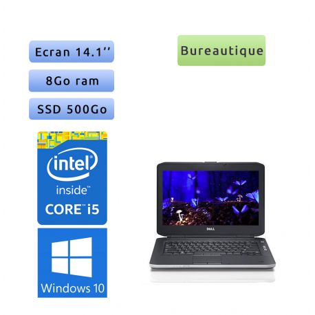 Dell Latitude E5430 - Windows 10 - i5 8Go 500Go SSD - 14.1 - Webcam - Ordinateur Portable PC