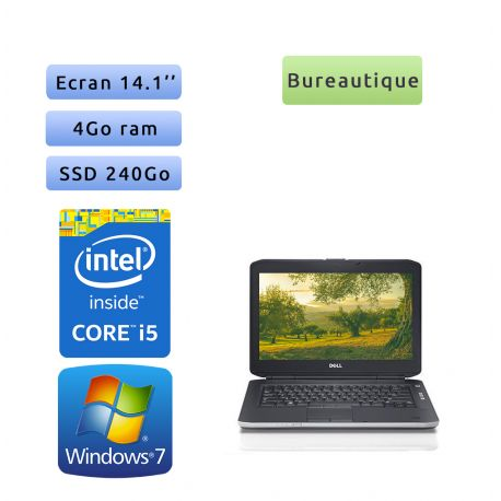 Dell Latitude E5430 - Windows 7 - i5 4Go 240Go SSD - 14.1 - Webcam - Ordinateur Portable PC