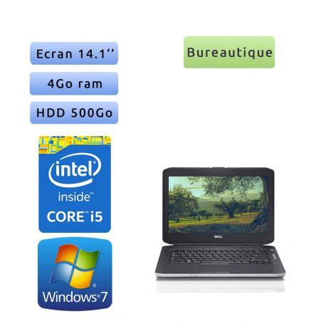 Dell Latitude E5430 - Windows 7 - i5 4Go 500Go - 14.1 - Webcam - Ordinateur Portable PC