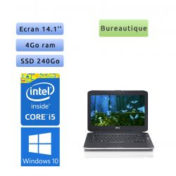 Dell Latitude E5430 - Windows 10 - i5 4Go 240Go SSD - 14.1 - Webcam - Ordinateur Portable PC