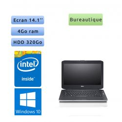 Lot Classe mobile - 20 x Dell Latitude E5430 - Windows 10 - 1,9Ghz 4Go 320Go - 14.1 - Webcam - Ordinateur Portable