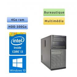 Dell Optiplex 390 MT - Windows 10 - i3 4Go 500Go - Ordinateur Tour Bureautique PC