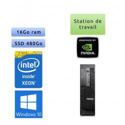 Lenovo ThinkStation C30 - Windows 10 - E5-2640 16Go 480Go SSD - GTX 1650 - Ordinateur Tour Workstation PC
