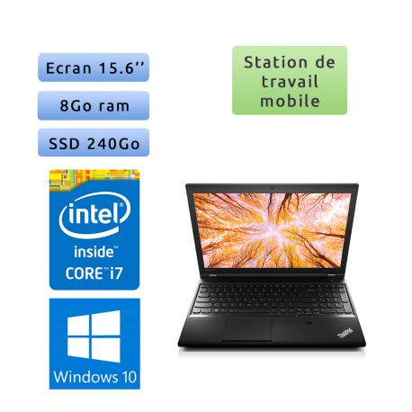 Lenovo ThinkPad L540 - Windows 10 - i7 8Go 240Go SSD - 15.6 - Workstation Ordinateur Portable PC