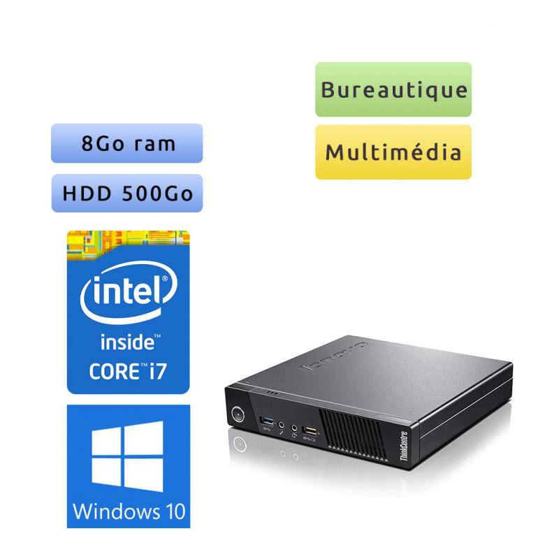 Lenovo ThinkCentre M73 Tiny - Windows 10 - i7 8Go 500Go - PC Tour Bureautique Ordinateur