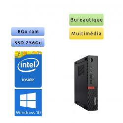 Lenovo ThinkCentre M710Q Tiny - Windows 10 - 2.9Ghz 8Go 256Go SSD - PC Tour Bureautique Ordinateur