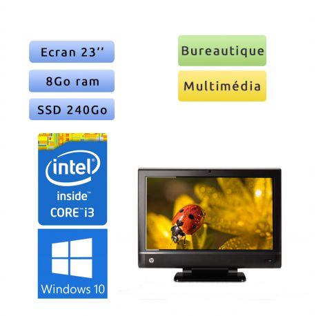 HP TouchSmart 610-1100fr - Windows 10 - i3 8Go 240Go SSD - 23 - webcam - tout en un - gain de place